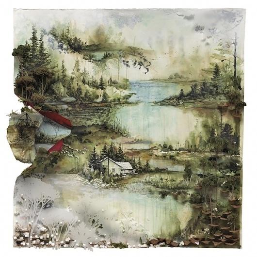 "Bon Iver – ""Calgary"" - Stereogum #album #iver #bon #cover #nature #painting"