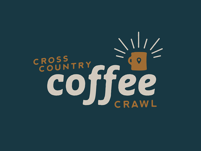 Cross Country Coffee Crawl by Luke Anspach #lettering #script #type #hand #typography