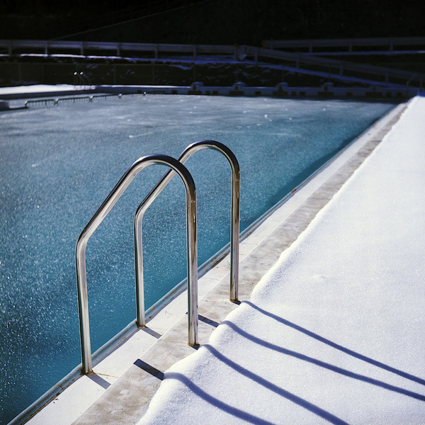 Pool Frozen | Flickr Photo Sharing! #water #winter #pool #ice #cool