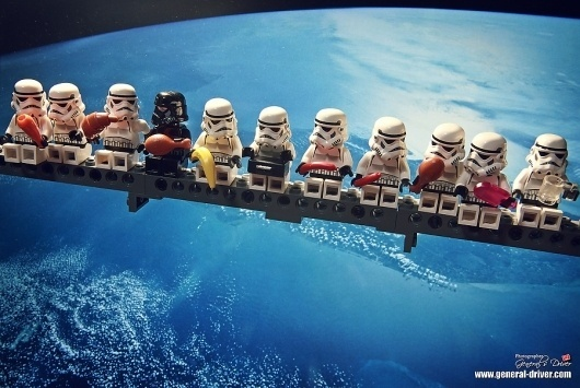All sizes | The lunch time of construction trooper | Flickr - Photo Sharing! #lunch #darthvadar #wars #star