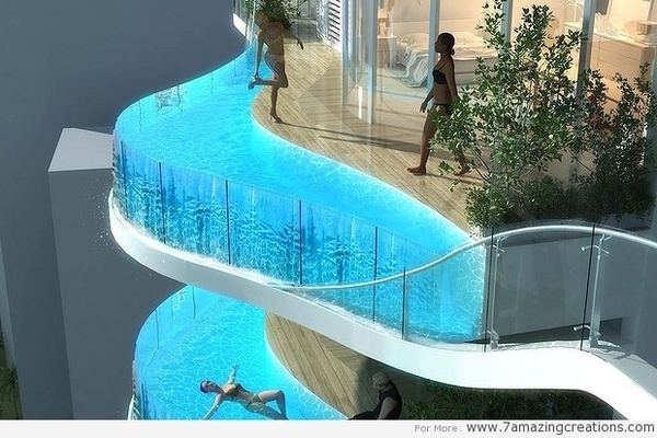 Amazing Skyscraper Pool #pool #swimming #architecture