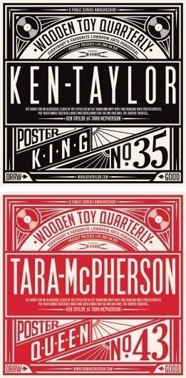Timbas Type & Logo Dept. #ken #taylor #gigposters #tara #posters #macpherson #concerts