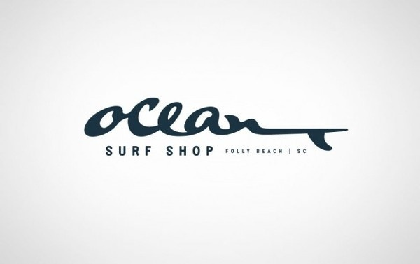 OCEAN_SURF_SHOP_FOLLY_BEACH_LOGO_CHARLESTON #logo #design