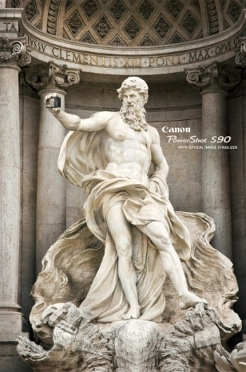 I Believe in Advertising | ONLY SELECTED ADVERTISING | Advertising Blog & Community » Canon Power Shot S90: Statues #advertising