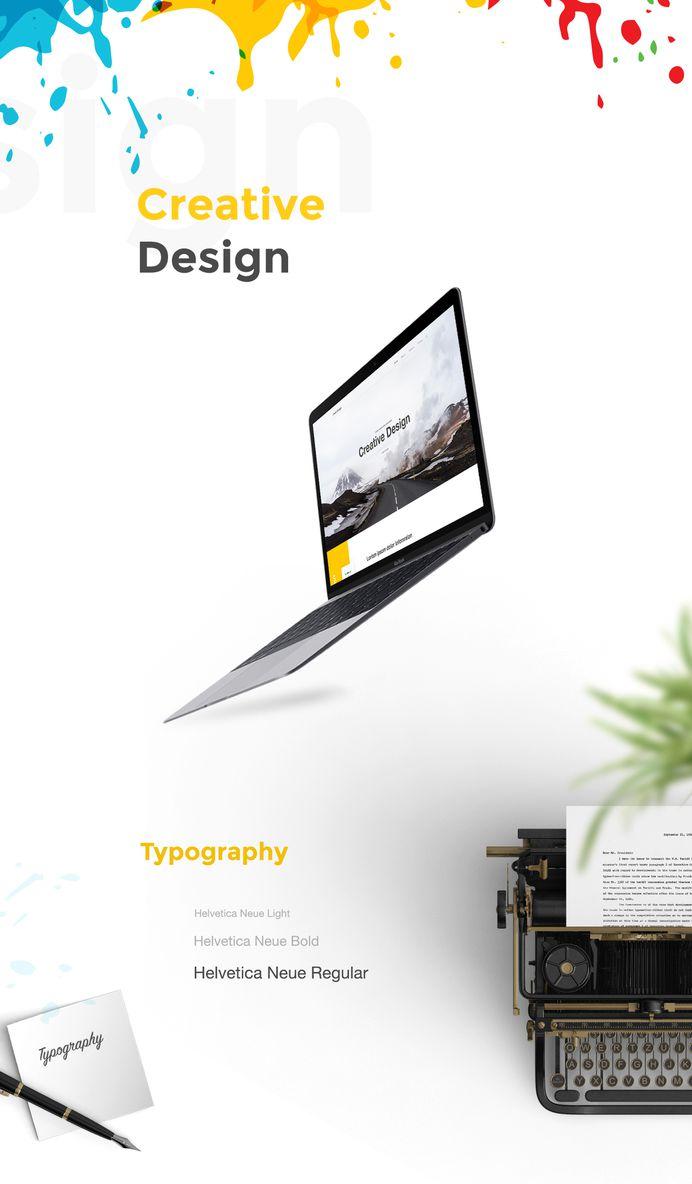 Creative Landing Page Design on Behance