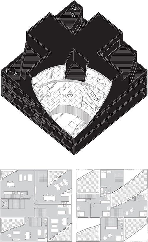 Città : Chris Norton Riley #architecture #axonometry