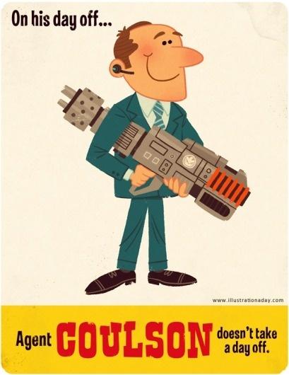 Dribbble - Agent-Coulson.png by Matt Kaufenberg #kaufenberg #matt #avengers #illustration #coulson