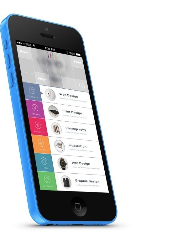 Portfolio UI on Behance #coler #design #ui #iphone #app