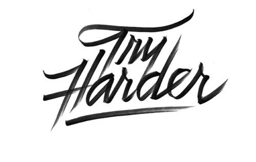 Typeverything.comTry Harder by Erick Marinovich. #logo