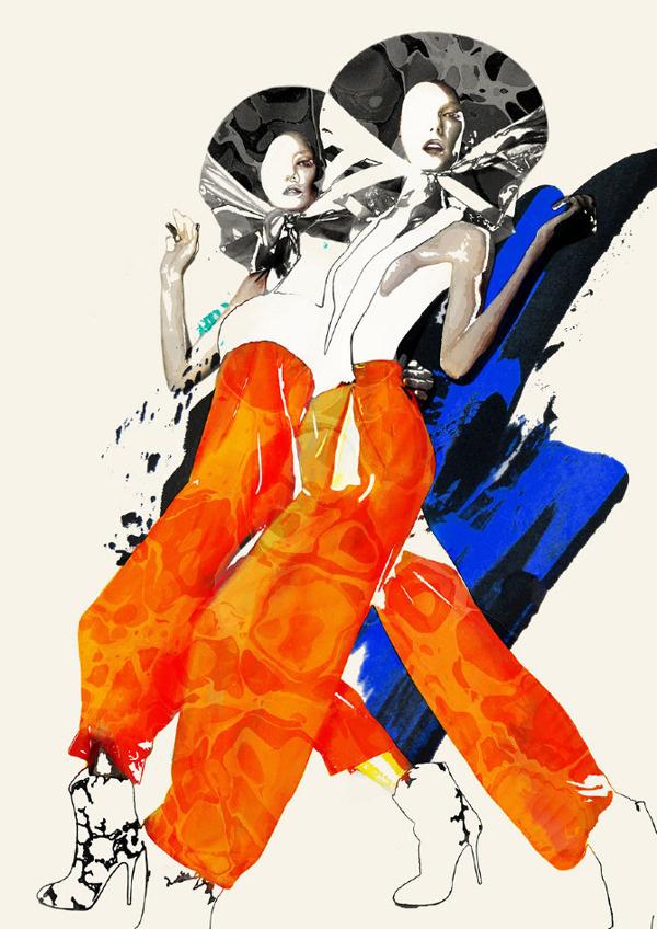 'OVEREXPOSED' Illustrations 2012 on Behance #fashion #illustration
