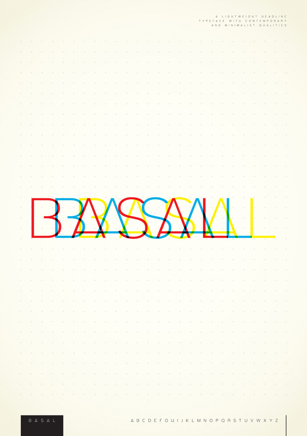 Basal Typeface on Typography Served #basal #typeface #typography