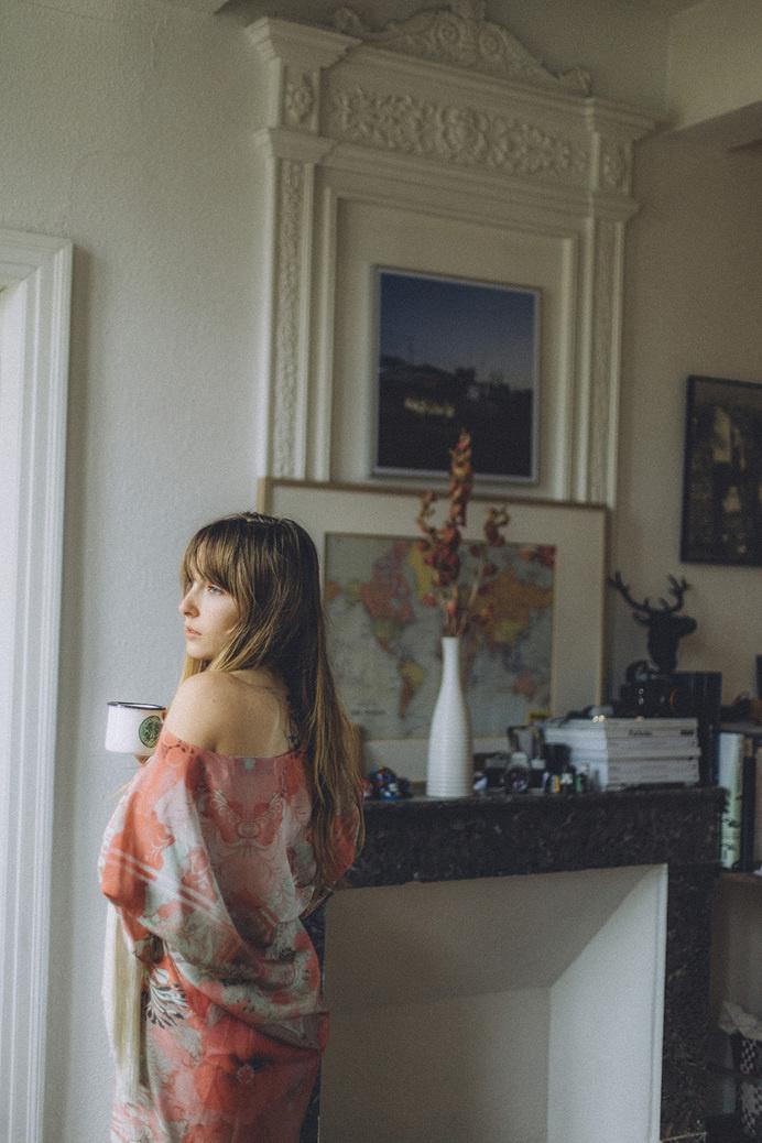 Emily wearing Athena Procopiou kimono #photo #girl