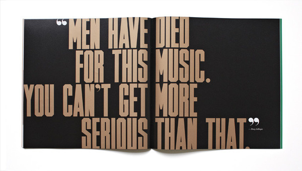Jazz FM Booklet Matt Willey #spread #mattwilley #typography