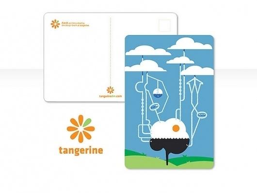 Tangerine Postcard: Fresh Process   Flickr - Photo Sharing! #tangerine #packaging #print #fresh #illustration #art #layout #typography