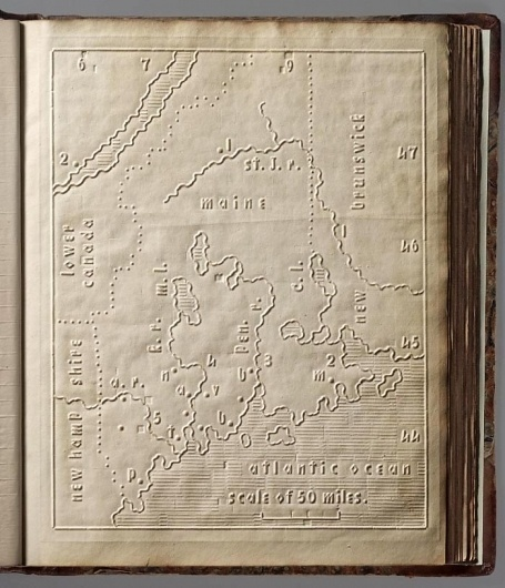 David Rumsey Historical Map Collection | Atlas for The Blind 1837 #cartography #howe #maps #1837