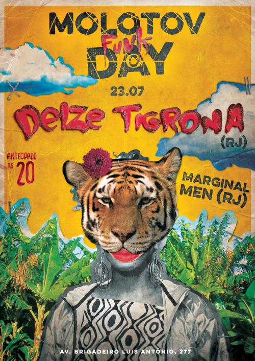 #collage #design #tiger #animal #yellow #brazil #type #poster #music #show #funk #riodejaneiro #rj