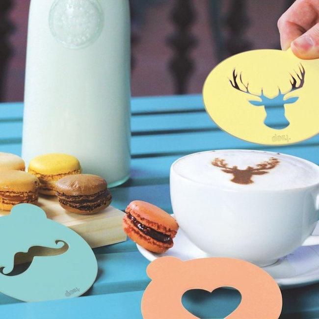 Hip Coffee Stencil Set #tech #flow #gadget #gift #ideas #cool