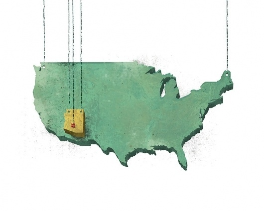 Suspended Geography Art Print by Jon Ashcroft | Society6 #ashcroft #america #arizona #jon #map #phoenix #illustration #usa