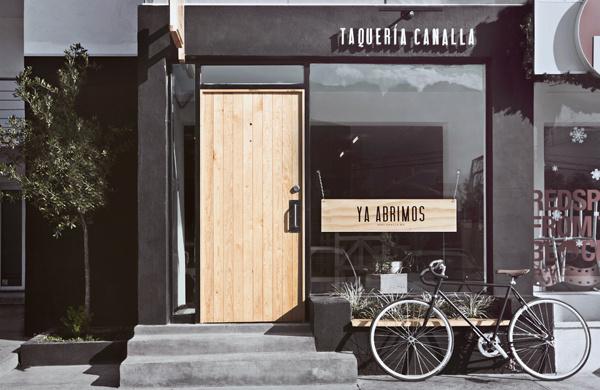 Canalla #futura #shop #restaurant #signage #type #manifiesto #typography
