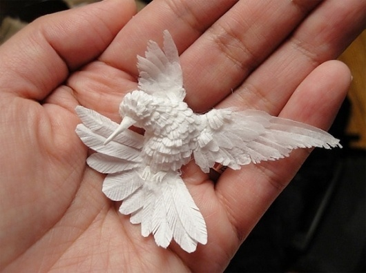 Paper Layers Can Create Stunning Art « BLOGNATOR #paper #hummingbird