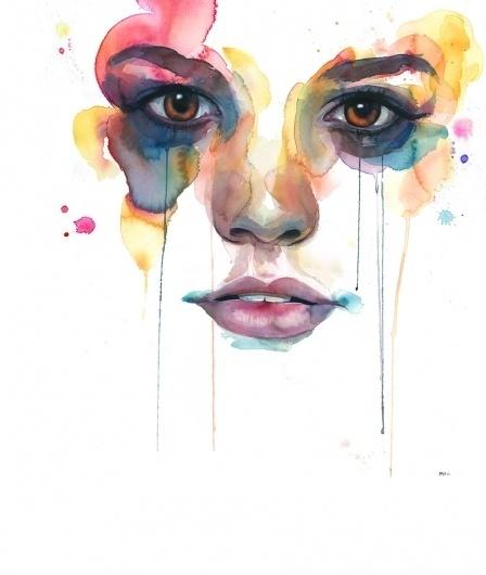 MAIN : Marion Bolognesi #watercolor #portrait #woman