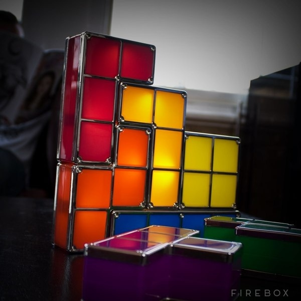 Tetris LED Desk Lamp #lamp #tetris #gadget