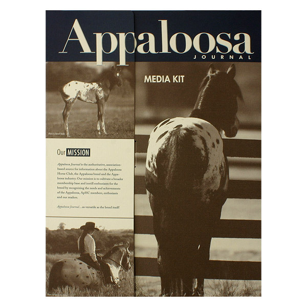 Appaloosa Journal Press Kit Folder #inspiration #horses #equestrian #horse #sepia #design #press #vintage #kit #folder