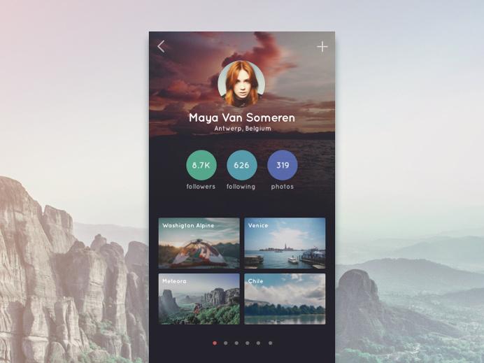 Travel App Profile #travel #app #design
