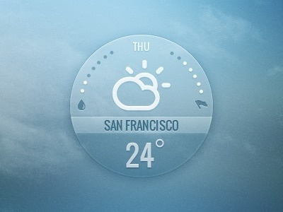 Dribbble - Weather widget by InnovationBox #icon #app #weather