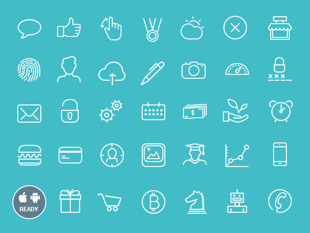 Icon Tail iOS & Android Vector Icon Bundle