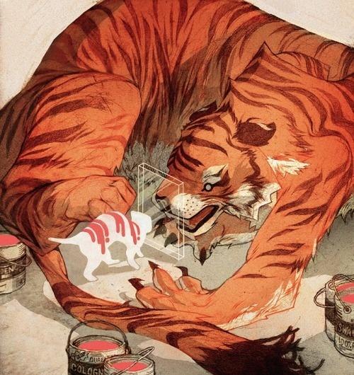 Paper Tiger : Sachin Teng #illustration #tiger #sachin #teng
