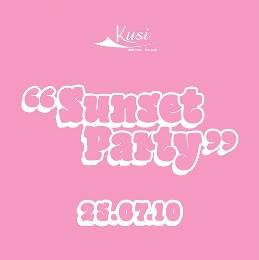 Francesco Vetica | Designer | Sunset #fluo #disco #party #flyer #design #graphic #adv #grapic #poster #club #typography