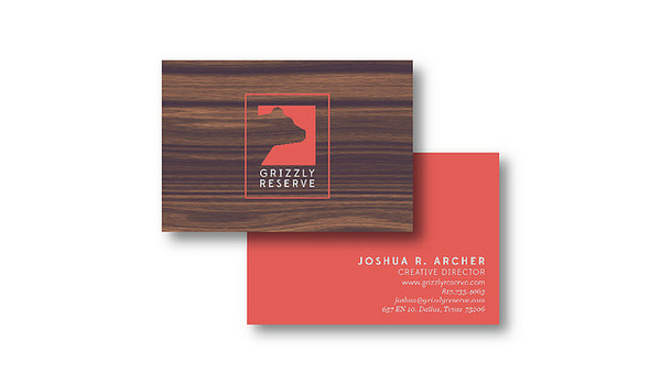 Grizzly Reserve #grizzly #mccarty #business #branding #card #design #wood #reserve #grain #logo #bear #letterhead #michael
