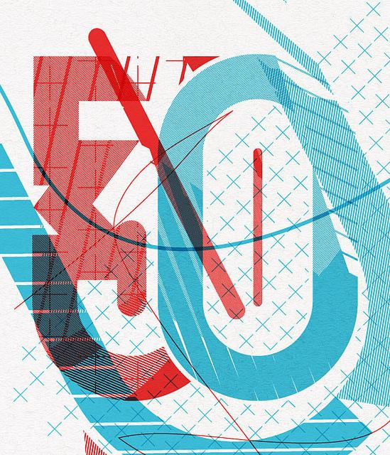 '30' #overprint #screenprint #typography
