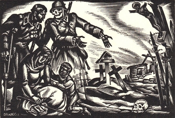 04sica-bookplate12_900.jpg (700×471) #wood #skull #etching #nazi