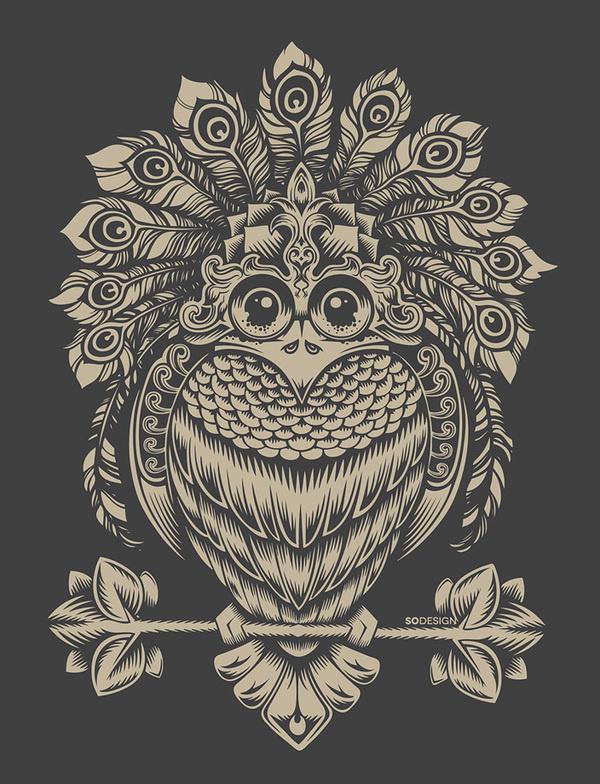 Behance :: bird by Sergey Kovalenko #owl