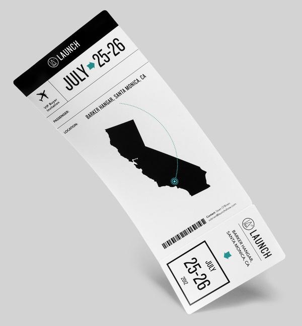Boarding pass for the Launch Tradeshow #tradeshow #launch #pass #boarding #california