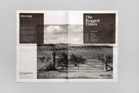 FFFFOUND! | Hunt Studio | Multi-disciplinary design studio | Melbourne — Driza–Bone: The Rugged Times #type #paper #identity