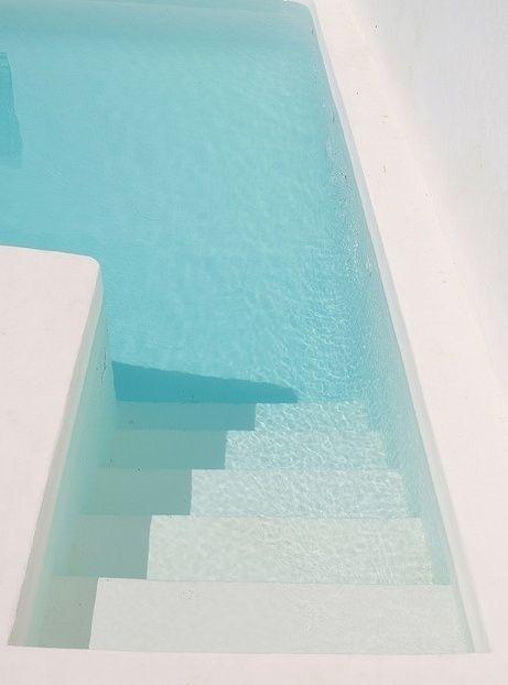 light #blue #pool #white #water