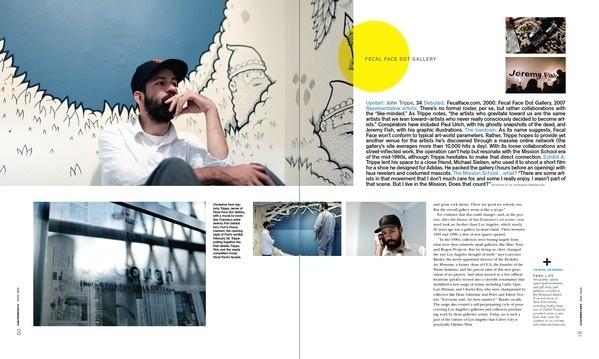The Art Issue (s) ••••••Art SanFrancisco Magazine on Editorial Design Served #design #publication #grid #editorial #magazine