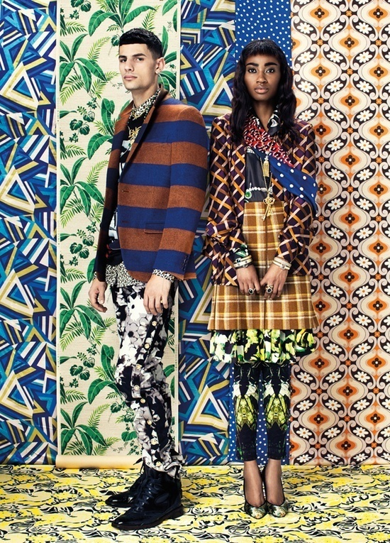 Emily Shur for Paper #fashion #pattern #colour #pohotshooting