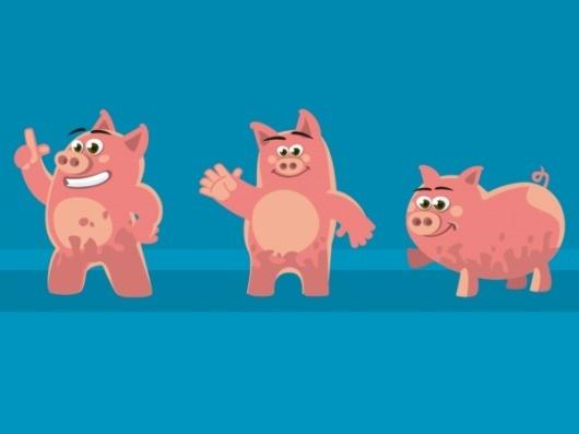 Presentation Pigs on the Behance Network #illustration #presentation #pigs
