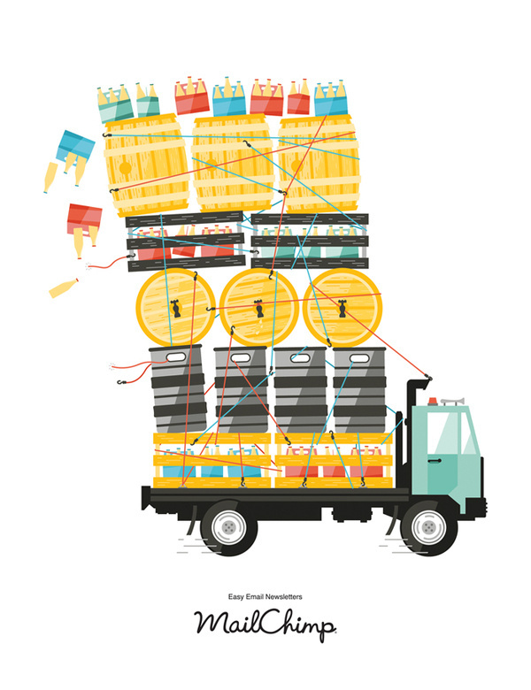 Great American Beer Fest #truck #beer #justin #pevrose #illustration #bottles #keg