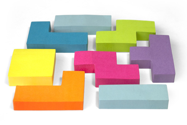 Tetris Sticky Notes #post #it #tetris