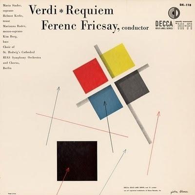 Symphonie Fantastique: Requiem (Decca, 1953) #album #1950s #design #graphic #alex #cover #steinweiss #mid #minimal #century