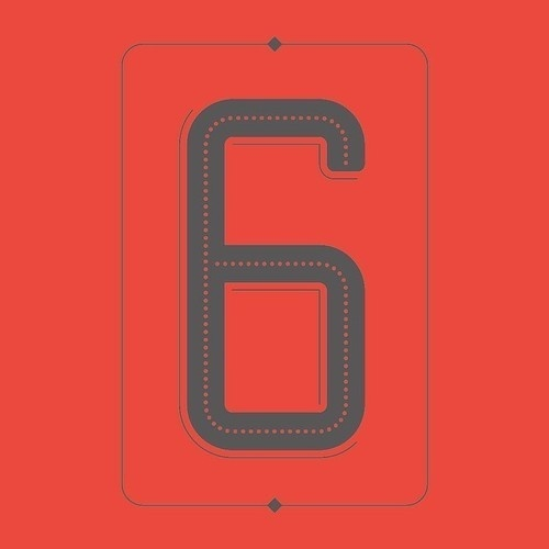 Number Postcard Series #numbers #lettering #six