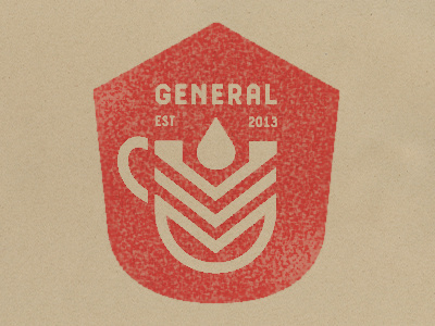 General Logo #mark #visual #army #design #graphic #espresso #logo #military #cafe #chevron #identity #symbol #custom #coffee #type #patriotic #sketch #typography
