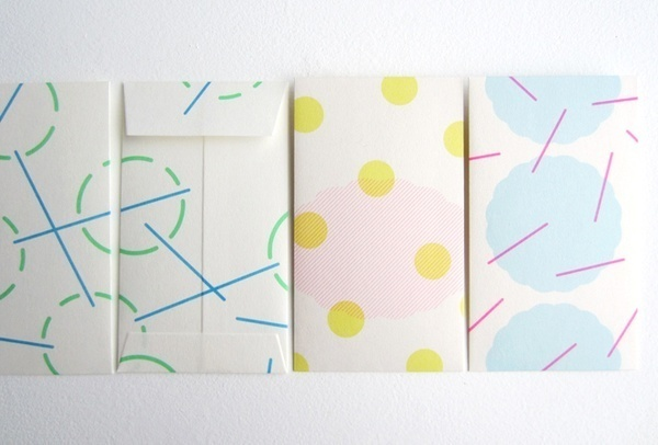 ドーのプチ袋セット #playful #stationary #irregular #geometric #pastel