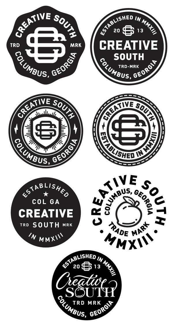 Creative south badge_finals #badge #logos #branding #final #identity