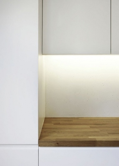 Dezeen » Blog Archive » Gallery House by Studio Octopi #wood #cupboards #white #detail